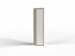 Твист ПУ (зр) шкаф скошенный с зеркалом петли слева, ручка справа
